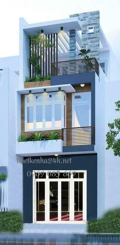 Mẫu nhà phố 3 tầng hiện đại, đơn giản mà đẹp