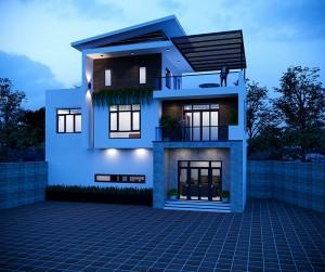 Mẫu biệt thự hiện đại 3 tầng thoáng mát tại Thanh Oai