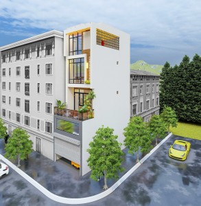 Mẫu nhà phố 4 tầng kết hợp kinh doanh tại Sơn La