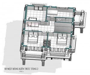 Mẫu biệt thự 2 tầng tân cổ điển tại Đồng Quế Vĩnh Phúc