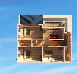 Thiết Kế Mẫu Nhà Biệt Thự 2 Tầng - anh Minh, Sông Lô Vĩnh Phúc
