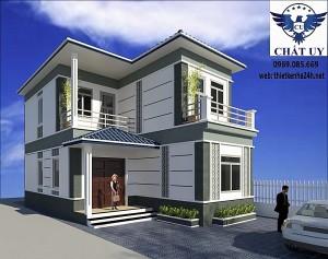 Mẫu nhà 2 tầng mái thái tại Yên Lạc Vĩnh Phúc