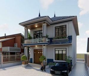 Biệt thự hiện đại 2 tầng rộng rãi, thoáng mát tại Phú Thọ