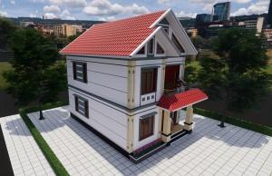 Mẫu thiết kế biệt thự mái thái 2 tầng hiện đại tại Hưng Yên