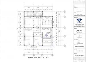 Mẫu biệt thự hiện đại 2 tầng 4 phòng ngủ 1 phòng thờ Lạng Sơn
