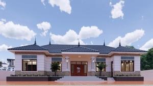 Mẫu nhà cấp 4 mái thái khang trang tại Bình Xuyên, Vĩnh Phúc