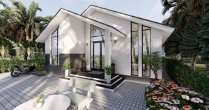 Tận hưởng cuộc sống sang chảnh với thiết kế mẫu nhà biệt thự cấp 4 hiện đại