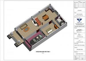 Nhà ống mái thái 2 tầng 5 phòng ngủ tại Phú Thọ