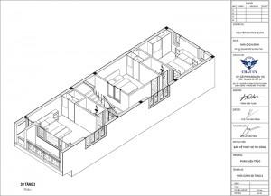Nét độc đáo trong thiết kế nhà ống 2 tầng 1 tum hiện đại