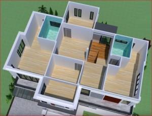 Mẫu nhà 2 tầng mái thái tại Móng Cái Quảng Ninh