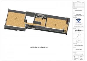 Mẫu nhà ống 3 tầng 3 phòng ngủ kết hợp kinh doanh