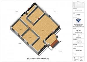 Nhà cấp 4 mái thái 3 phòng ngủ nông thôn
